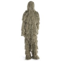 Wholesale hunt clothes online - Jungle Hunting Woodland Sniper Ghillie Suit Set Tactical Camouflage Clothing Adjustable Cap for Birdwatching