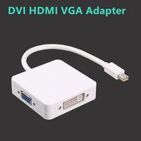 Wholesale vga dvi dp - High Definition Switch Adapter Mini Dp To Hdmi Dvi Vgamini Dp To Hdmi Adapter DVI HDMI VGA Adapter