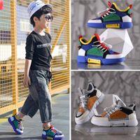 12 yaşında kız moda toptan satış-Yeni tasarımcı kızlar spor ayakkabı boys renk eşleşen rahat ayakkabılar moda düz yürüyüş ayakkabı 4 --- 16 yaşında ücretsiz kargo