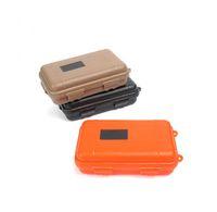 almacenamiento de herramientas al aire libre al por mayor-Deporte al aire libre Equipo a prueba de golpes Caja impermeable Caja sellada EDC Herramientas Salvaje Supervivencia Caja de almacenamiento Venta caliente