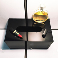 Wholesale tissue boxes grade resale online - Desktop High Grade Black Acrylic Tissue Box Tabletop Elegant Wear Resistant Storage Boxes Cosmetic Makeup Jewelry Case kt ff