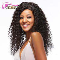 Wholesale kinky curly burmese hair online - xblhair afro kinky curly human hair wig virgin human hair wig within straight and body wave wigs