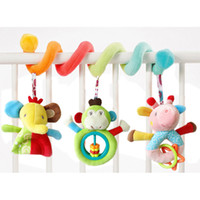 Wholesale stroller accessories toys - Playpen Baby Crib Bed Hanging Toys Stroller Rattles Plush Elephant Doll Infant Carrier Accessories for Newborn Education B0672