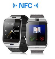 Wholesale Bs Silver - GV18 1.5 inch NFC Smart Watch With touch Screen 1.3MCamera Bluetooth SIM GSM Phone Call Waterproof for Android Phone DZ09 R-BS DHL