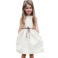 2017 Summer Toddler Kids Baby Girls Dress Sleeveless Cute Princess Party Pageant Dresses