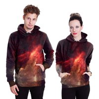 Wholesale Galaxy Print Jackets - New Fashion Galaxy Hoodies Couples Men Women Pullover 3D Print Popular Hoodies Loose Sweatshirts Jacket Pullover Tops B101-005