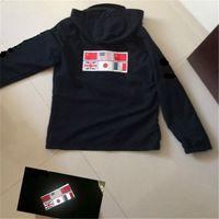 Wholesale Mens Military Cotton Jacket - Fashion Designer Hoodie Mens Jacket Clothing Military Map Reflective Jackets Hooded Black Mens Luxury Jackets Hoodies Noctilucent Size M-XXL