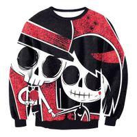 homem do traje zombi venda por atacado-Cosplay Halloween Zombie Ghost Vampire Witch 3D Print Sweater Top Coat Sweatshirt Jacket Adulto Mulheres / homens Trajes Atacado