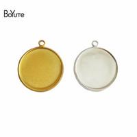 Wholesale gold blank pendants - BoYuTe 50Pcs Fit 10MM 12MM 14MM 16MM 18MM 20MM 25MM Cabochon Base Setting Gold Plated Pendant Blank Bezel Tray Diy Jewelry Accessories