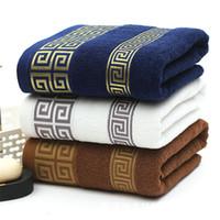 bufandas de color liso al por mayor-Toalla de baño de algodón puro Color liso Adulto suave multicolor Logotipo de la bufanda Bordado personalizado Toallas de playa grandes Textiles para el hogar 21dg gg