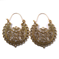 Wholesale jewelry earrings factory prices resale online - Retro vintage alloy best price factory direct hollow bohemia women earring high quality fashion lady earring jewelry