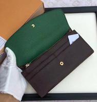 carte ms achat en gros de-Porte-monnaie portefeuille en cuir multicolore de luxe porte-monnaie porte-carte porte-monnaie style portefeuille