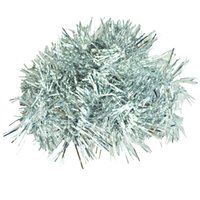Wholesale wholesale christmas tinsel garland - 2m (6.5 Ft) Christmas Tinsel Tree Decorations Tinsel Garland (silver)