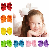 Wholesale inch solid boutique hair bows for sale - Group buy Baby Headband Kids Bow Hairbands cotton inches Children hair bows ring girls Boutique hair accessories C3470