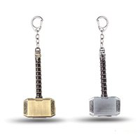 Wholesale classic cars souvenir gift - The Avengers Key Chain Thor Hammer Mjolnir Key Rings For Gift Chaveiro Car Keychain Jewelry Game Key Holder Souvenir YS10822