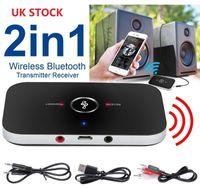 приемник аудио передатчика bluetooth hifi оптовых-2 в 1 беспроводной Bluetooth автомобиля Аудио приемник передатчик HIFI Музыка адаптер AUX RCA