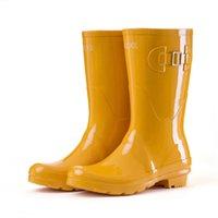 ingrosso donne in gomma gialla stivali-