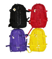 рюкзак с синими джинсами оптовых-Мода 45-й 18FW Рюкзак женщины мужчины школьные сумки черный красный синий желтый в Stokc