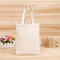 Discount flat shop - Blank pattern Canvas Shopping Bags Eco Reusable Foldable Shoulder Bag Handbag Tote Cotton Tote Bag Wholesale Custom