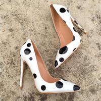 ingrosso scarpe piane nere di brevetto-Foto reali Moda Donna Décolleté sexy lady bianco Perle nere in vernice Pieghevoli scarpe basse stivali pompe nuovissime 12cm 10cm 8cm taglia grande