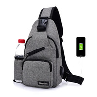 Wholesale chest for women - new Canvas Men Chest Pack Single Shoulder Strap Back Bag Crossbody Bags For Women Casual Travel Rucksack Chest Bag