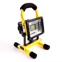 Wholesale construction leads - Outdoor Signal Searchlight LED 20W Square Construction Site Emergency Lamp Camping Portable Cast Light 360 Degree Rotation 35rh X