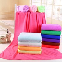 Wholesale Cotton Washcloths - Microfiber Bath Towels Beach Solid color Washcloth Towel Swimwear Travel Camping Towels Shower absorbent Cleaning Towels 70x140cm MK202
