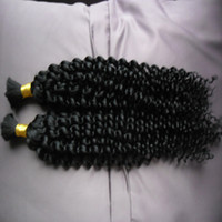 Wholesale kinky curly human hair for braiding resale online - Mongolian Afro Kinky Curly no weft human hair bulk for braiding g Kinky Curly Mongolian Bulk Hair Human Braiding Hair Bulk