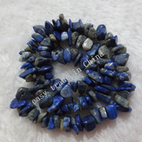 Wholesale Lapis Cross - 4-8mm 33inch Natural Lapis Lazuli Crystal Stones Chip DIY Jewelry Gemstone Stone Beads Strand Necklace Bracelet Pendant N44