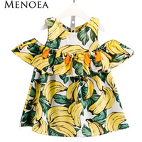 Wholesale baby clothes bananas for sale - Group buy Menoea Girls Dress New Summer Style Children Clothing Kids Dress Banana Pattern Printing for Baby Girls Dress Girl Clothes