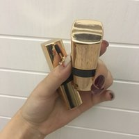 lábio da cintura venda por atacado-10/30/50 pcs High-grad Espelho de Ouro 12.1mm Vazio Cintura Tubo de Batom Preto DIY Lábios Embalagem Recipiente Elegante Lip Tube