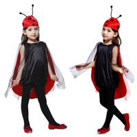 Wholesale costume for boys animals for sale - Children Kids Halloween Cosplay Costumes for Girls Insect Anime dress with hat Cosplay Clothing for Boys Girls Stage show S M L HC38