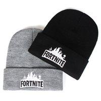 31 estilos Fortnite chapéu de malha mulheres homem moda inverno quente  cinza preto bonito hip hop bonés de lã chapéus 8f834669bf5