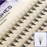 Wholesale clusters lashes resale online - 8 mm Length knot free clusters strands natural long synthetic mink individual lash extensions individual mink lash