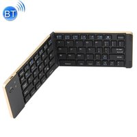 legierungstastatur großhandel-KuWfi Bluetooth 3.0 faltende drahtlose Tastatur-faltbare Aluminiumlegierung 66keys Tastatur für IPhone iPad iOS Android-Telefon Tablette