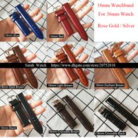 Wholesale 18mm leather watch band - 18mm Genuine Leather Watch Bands Strap Belt For 36mm Watch