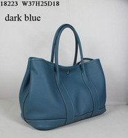 Wholesale saddle blue for sale - Group buy Designer Leather totes women casual fashion bags soft leather cm wide super large volume inner pocket with zipper very Low profit
