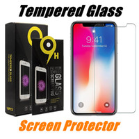 Wholesale Plus Protect - For iPhone X Tempered Glass Screen Protector iPhone 8 Plus Protect Film For iPhone 5 SE J7 Prime J3 2017 With Retail Package