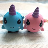 Wholesale Toy Puppets - 8*9cm unicorn Squishy Toys for Kids slow rising squishy Finger Doll Puppets squishy unicorn whales Toy Stretchy Animal Healing Stress Paste