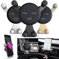 Wholesale car mount cradle holder for mobile - YENTL Emoji Car Mount Holder Air Vent Vehicle Mount Cradle Holder For Cell Phone for iPhone X Plus Universal