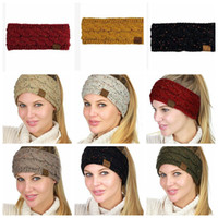 Wholesale cc Solid Knitting Headband Winter Warm Ear Crochet Turban Hair Accessories For Women Girl Hair Band Headwraps LJJK927