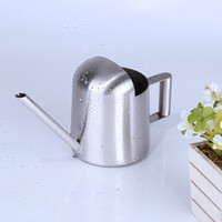Wholesale can plants for sale - Group buy 300ml Stainless Steel Long Spout Watering Cans For Household Garden Green Plants Pot Quality Simple Design Modern Pots Equipments sh Z