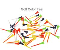 Wholesale golf balls tees wholesale - Golf Ball Nail Tee Plastic Court Articles Accessories Rubber Cushion Top Spike Mix Colour Outdoor sports GGA283 500PCS