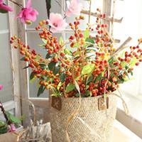 ingrosso decorazioni naturali di frutta artificiale-Artificiale floreale Bouquet Frutta Bacca Bolla artificiale Frutta polpa Natale Frutti di bosco Natale decorazione della casa di nozze