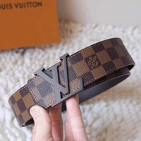 Wholesale formal belts - 2018 L Buckle Design Belts for Men Women Fashion Belts Genuine Leather Luxury Belt Brand Waist Belt