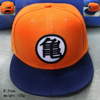 Wholesale Flat Hats For Kids - 2017 3 Style High Quality Dragon Ball Z Goku Hat Snapback Flat Hip Hop Caps Casual Baseball Cap For Men Women Kids Birthday Gift