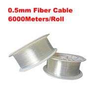 lumières de câble de fibre optique achat en gros de-0.5mm diamètre 6000m / rouleau PMMA lueur d'extrémité de câble à fibres optiques pour l'éclairage de décoration conduit lumières de la fibre