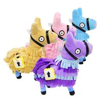 Wholesale stuffed animals - 4 Color CM inch Fortnite plush dolls Stash Llama Figure Soft Stuffed Horse Animal Cartoon Toys Action Figure Toys Kids Gift B