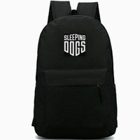 Wholesale girls games dress for sale - Group buy Sleeping Dogs backpack Wei Shen role daypack Logo print schoolbag Game rucksack Sport school bag Outdoor day pack