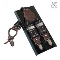Wholesale western suspenders - Kangdai New fashion men's suspenders belt with 4 clips and adjustable straps Y back for trousers western-style, suspenders AY4